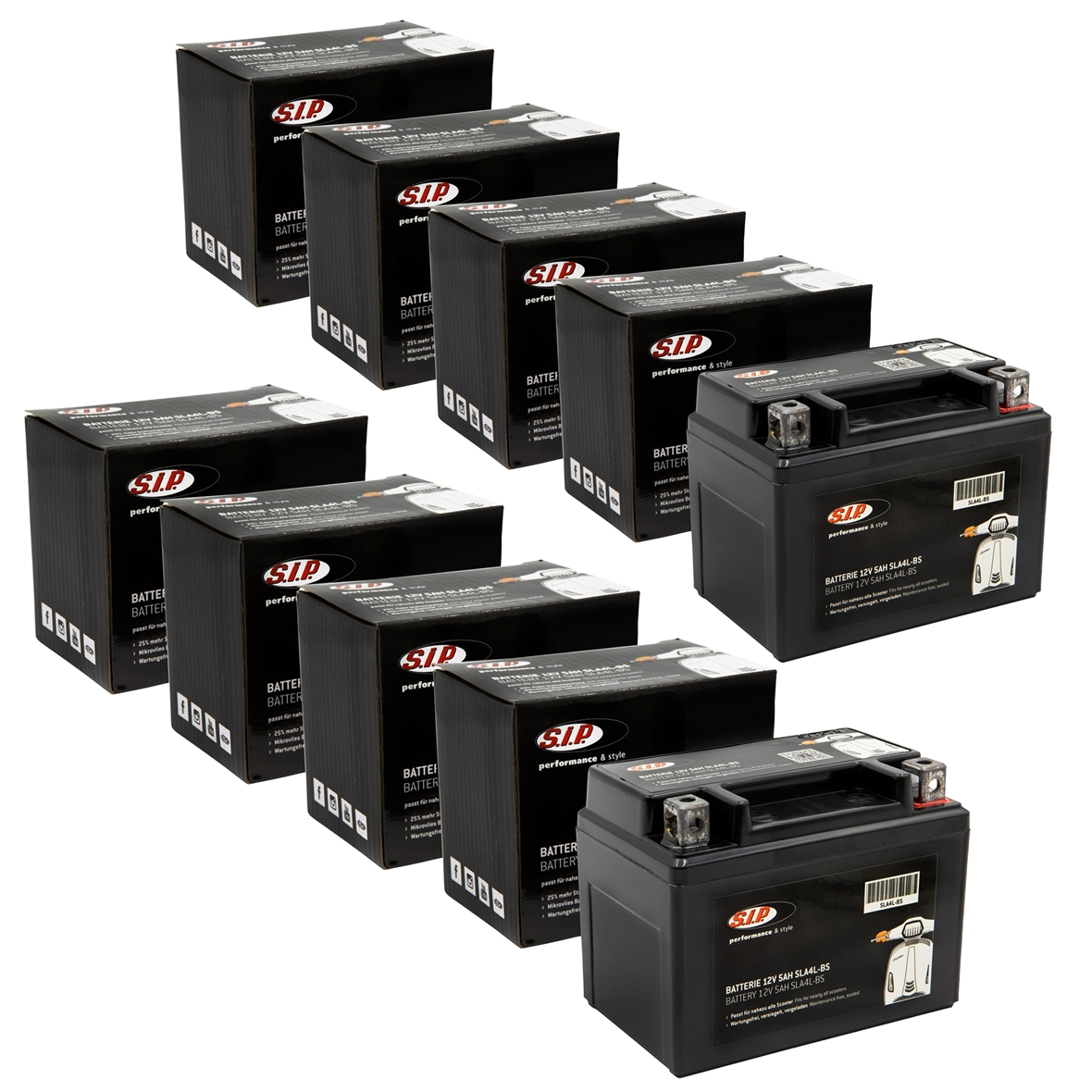 Obrázek výrobku pro 'Baterie SIP 12V/5Ah, SLA12-4Title'