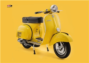 Obrázek výrobku pro 'Pohlednice SIP Vespa Rally žlutáTitle'