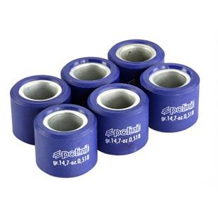 Obrázek výrobku pro 'Válečky variátoru POLINI 23x18 mm 14,8 gramTitle'