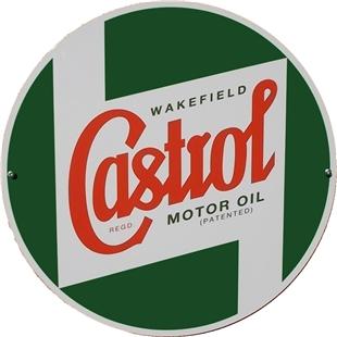 Obrázek výrobku pro 'Plechová reklamní tabule CASTROL CLASSIC logoTitle'