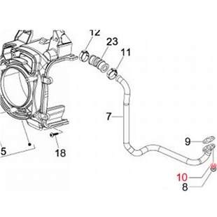Obrázek výrobku pro 'Podložka sekundární vzduchová trubka, PIAGGIOTitle'