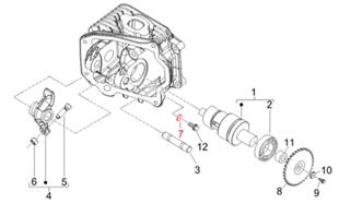 Obrázek výrobku pro 'Podložka vačková hřídel 5,2x15 mm, PIAGGIOTitle'
