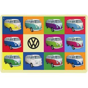 Obrázek výrobku pro 'Plechová cedule VW Collection VW Bus - MulticolorTitle'