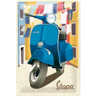 Obrázek výrobku pro 'Plechová cedule Vespa - Italian LaundryTitle'
