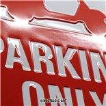 Obrázek výrobku pro 'Plechová cedule Vespa Parking OnlyTitle'