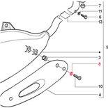 Obrázek výrobku pro 'Podložka Ochranný plech proti horku výfuk 16x5x1 mm Ø 16x5 mm (síla) 1,0mm, PIAGGIOTitle'