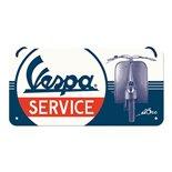 Obrázek výrobku pro 'Plechová cedule Vespa ServiceTitle'