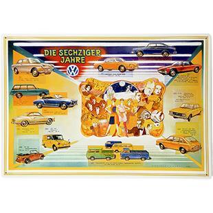 Obrázek výrobku pro 'Plechová cedule VW Collection VW - Die Sechziger JahreTitle'