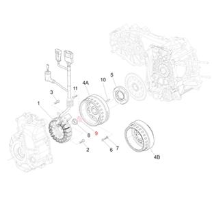 Obrázek výrobku pro 'Podložka magnetové kolo/stator zapalování, PIAGGIOTitle'