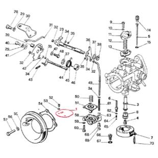 Obrázek výrobku pro 'podtlaková klapka DELL'ORTO pro karburátor OVC 34Title'
