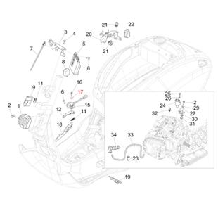 Obrázek výrobku pro 'Podložka Sensor převrácení 5,2x15x1,5 mm, PIAGGIOTitle'