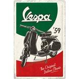 Obrázek výrobku pro 'Plechová cedule Vespa - The Italian ClassicTitle'