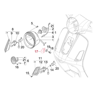 Obrázek výrobku pro 'Sponka světlomet, PIAGGIOTitle'