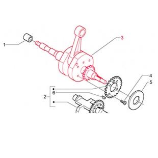 Obrázek výrobku pro 'Kliková hřídel PIAGGIOTitle'