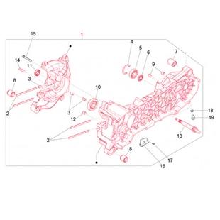 Obrázek výrobku pro 'Kapota motoru PIAGGIOTitle'
