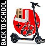 """Produktbild für 'E-Scooter """"BACK TO SCHOOL"""" Bundle TRITTBRETT Kalle mit VANS Griffen (weiss)  und Masterlock Streetcuff'"""