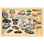 Produktbild für 'Blech-Postkarte VW Collection VW Käfer - Die Fünfziger Jahre'