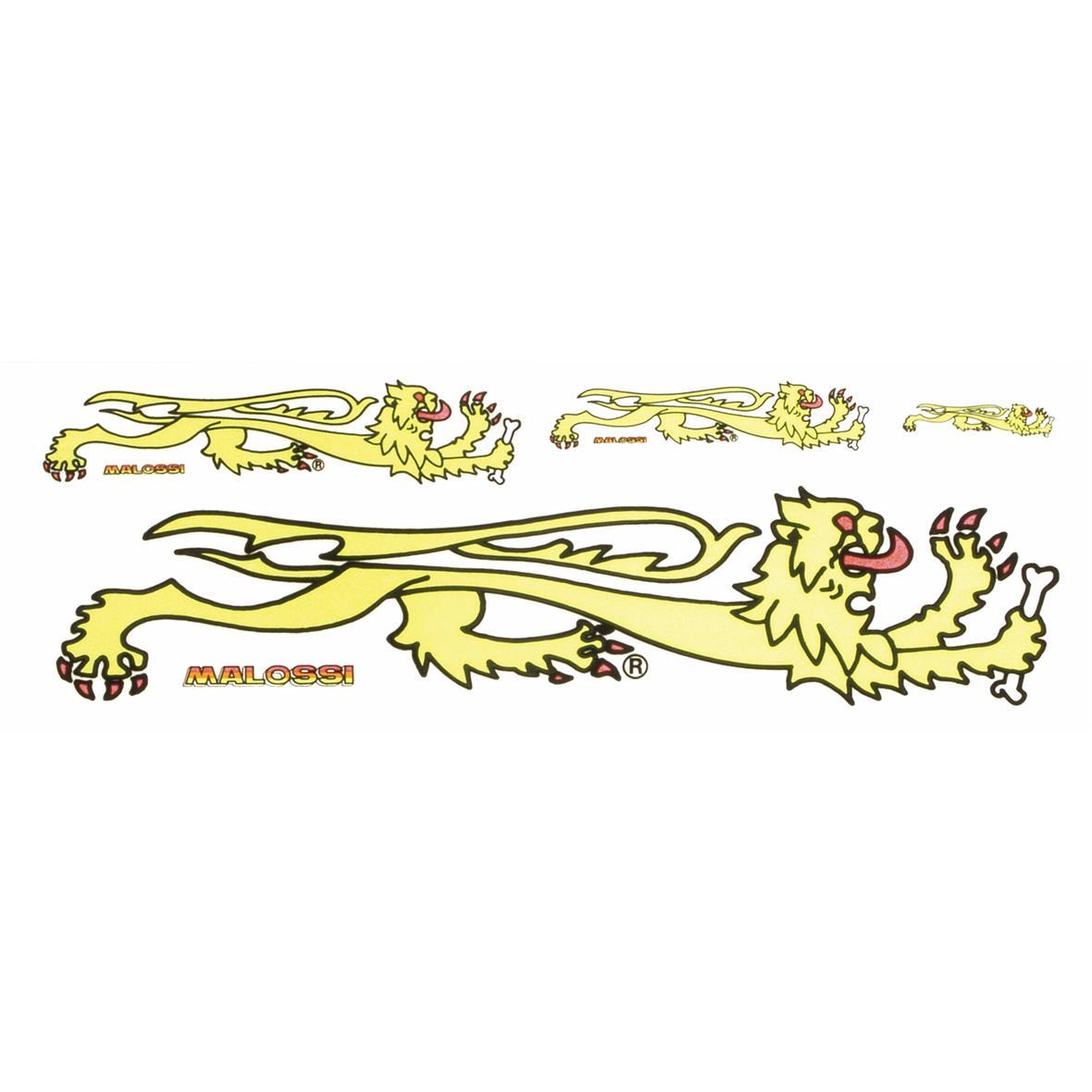 """Produktbild für 'Aufkleber MALOSSI """"Löwe""""'"""