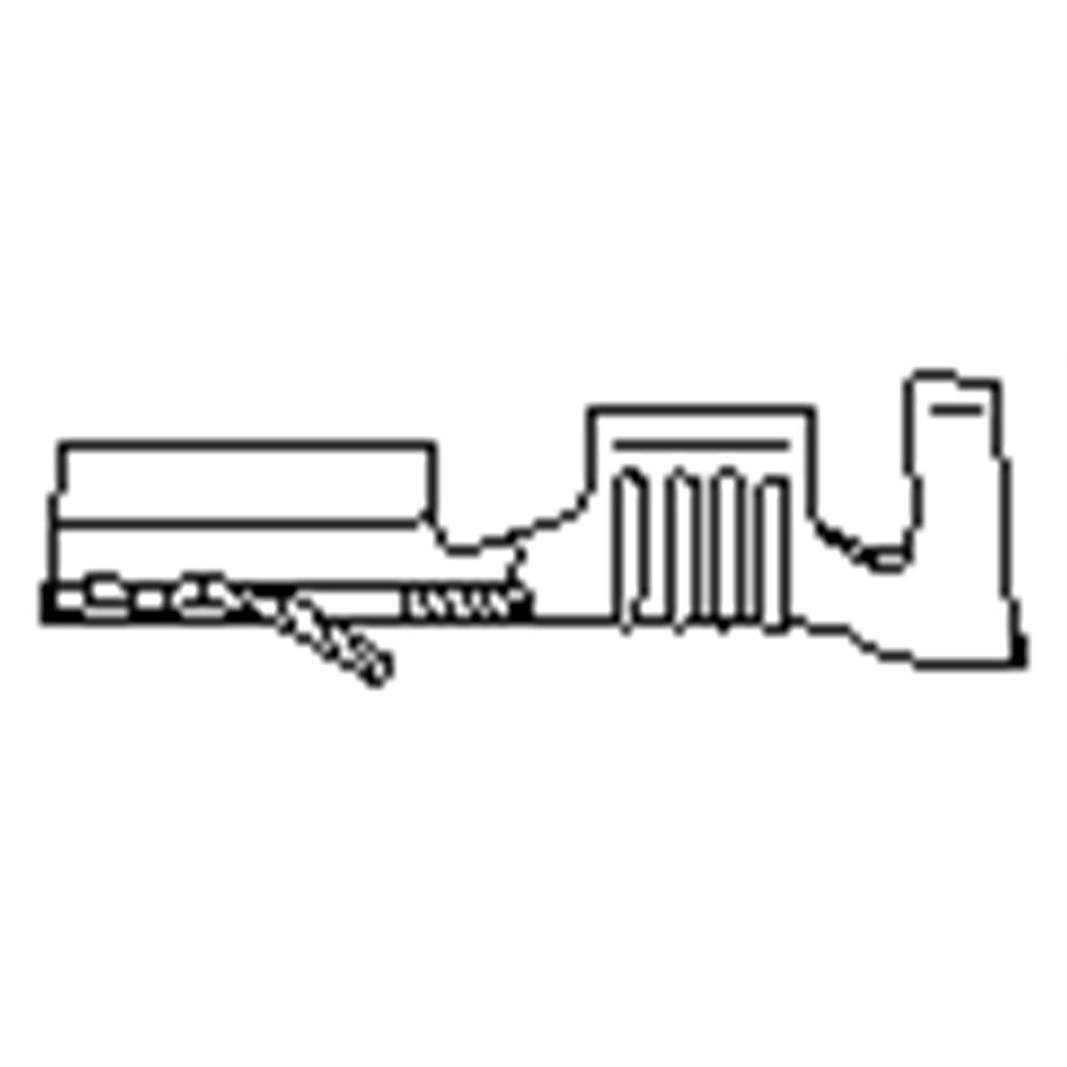 Produktbild für 'Kabelschuh für 0,5-1,0mm² Kabel'