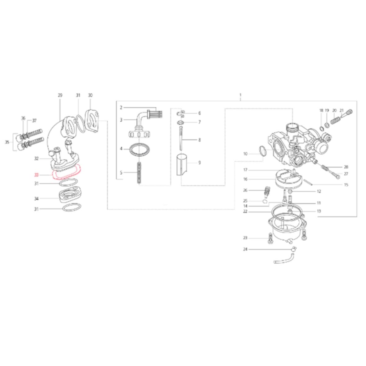 Produktbild für 'Dichtung LML Ansaugstutzen/Motor'