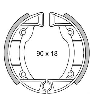 Produktbild für 'Bremsbacken RMS vorne'