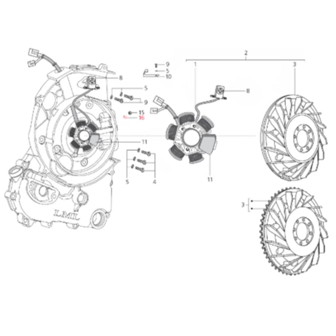 Produktbild für 'Halteblech LML Kabel Zündgrundplatte'