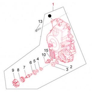 Εικόνα προϊόντος για 'Κάλυμμα δεξί Αντλία νερού PIAGGIOTitle'