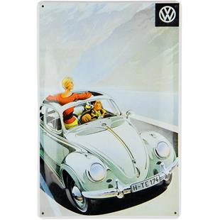 Product Image for 'Metal Post Card VW Collection VW Beetle - SunroofTitle'