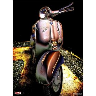 """Product image for 'Poster SIP with """"Vespa Sprint """"STP"""" 60's"""" motif ClassicTitle'"""