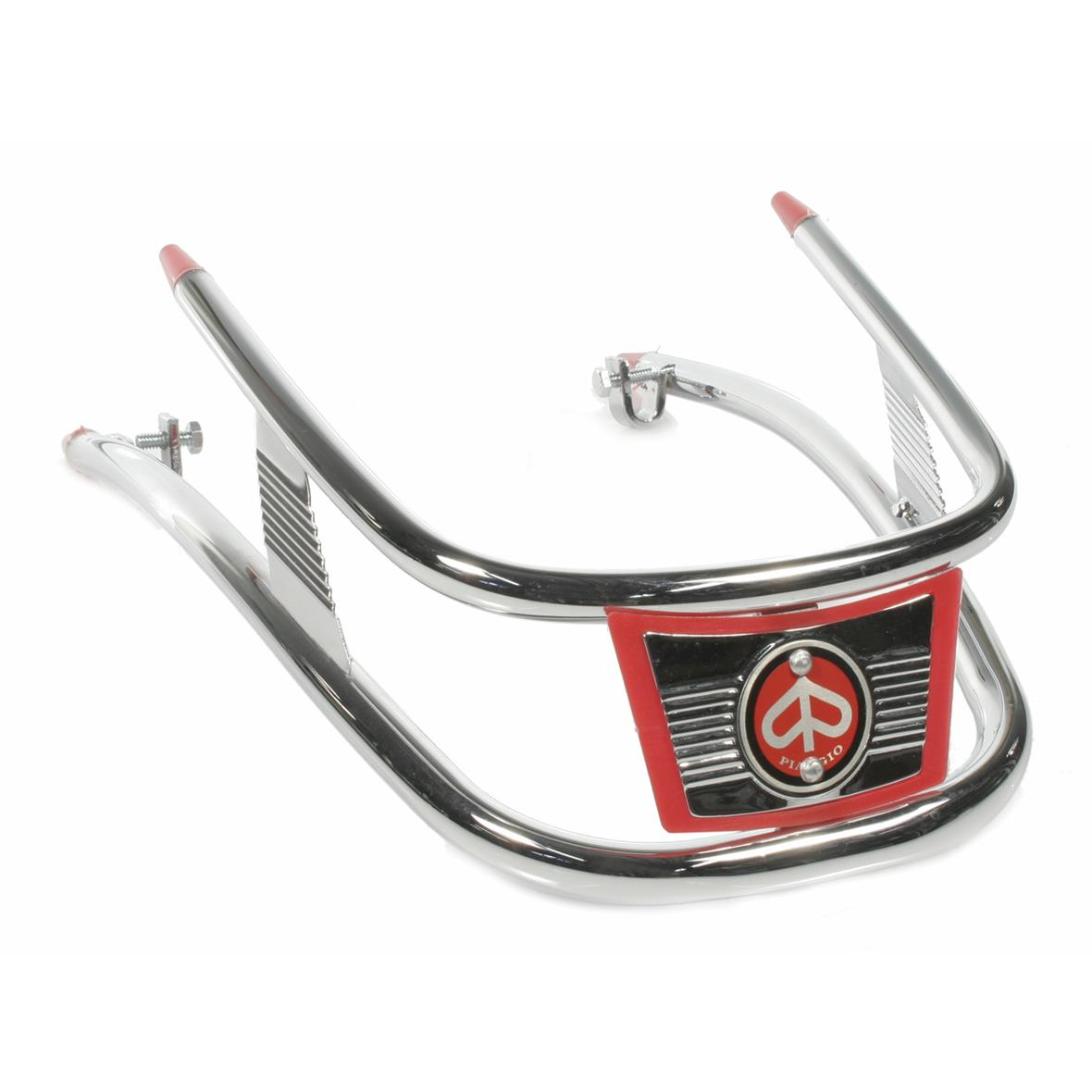 """Product Image for 'Bumper """"Vespa"""" Vespa Sprint/Rally, mudguard front, doubletube, chrome/redTitle'"""
