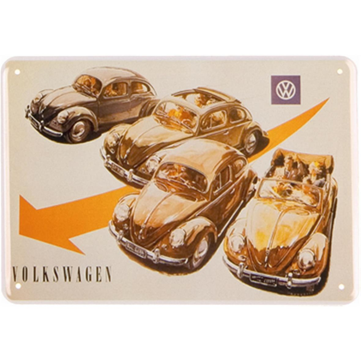 Product Image for 'Metal Post Card VW Collection VW Beetle - 4 BeetlesTitle'