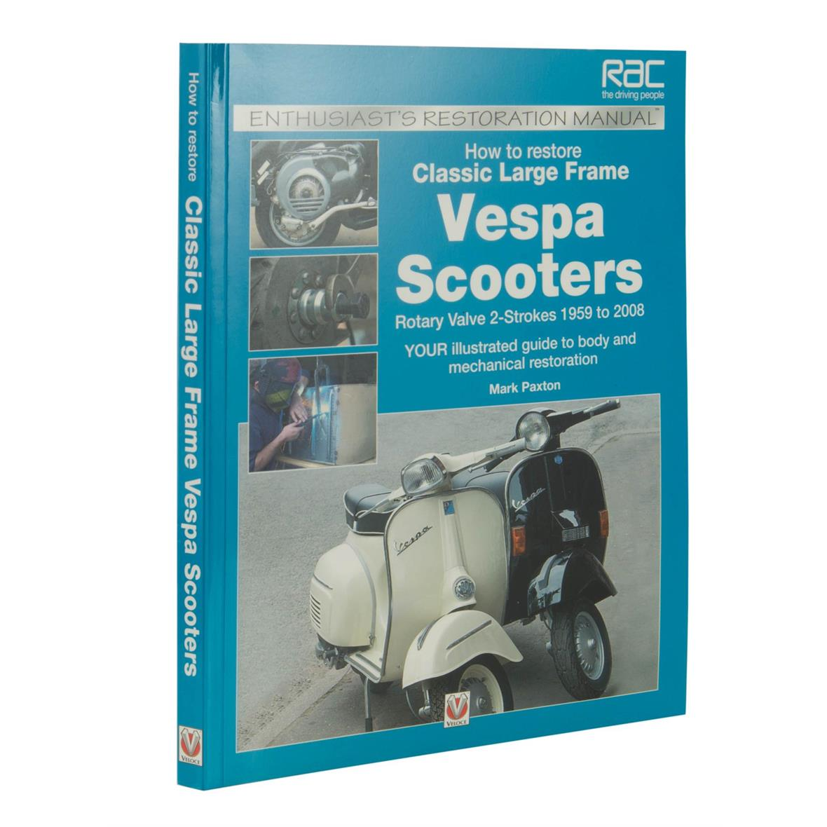 """Product Image for 'Hand Book """"How to restore Classic Largeframe Vespa Scooters"""" disc valve, 2-stroke, 1959 - 2008Title'"""