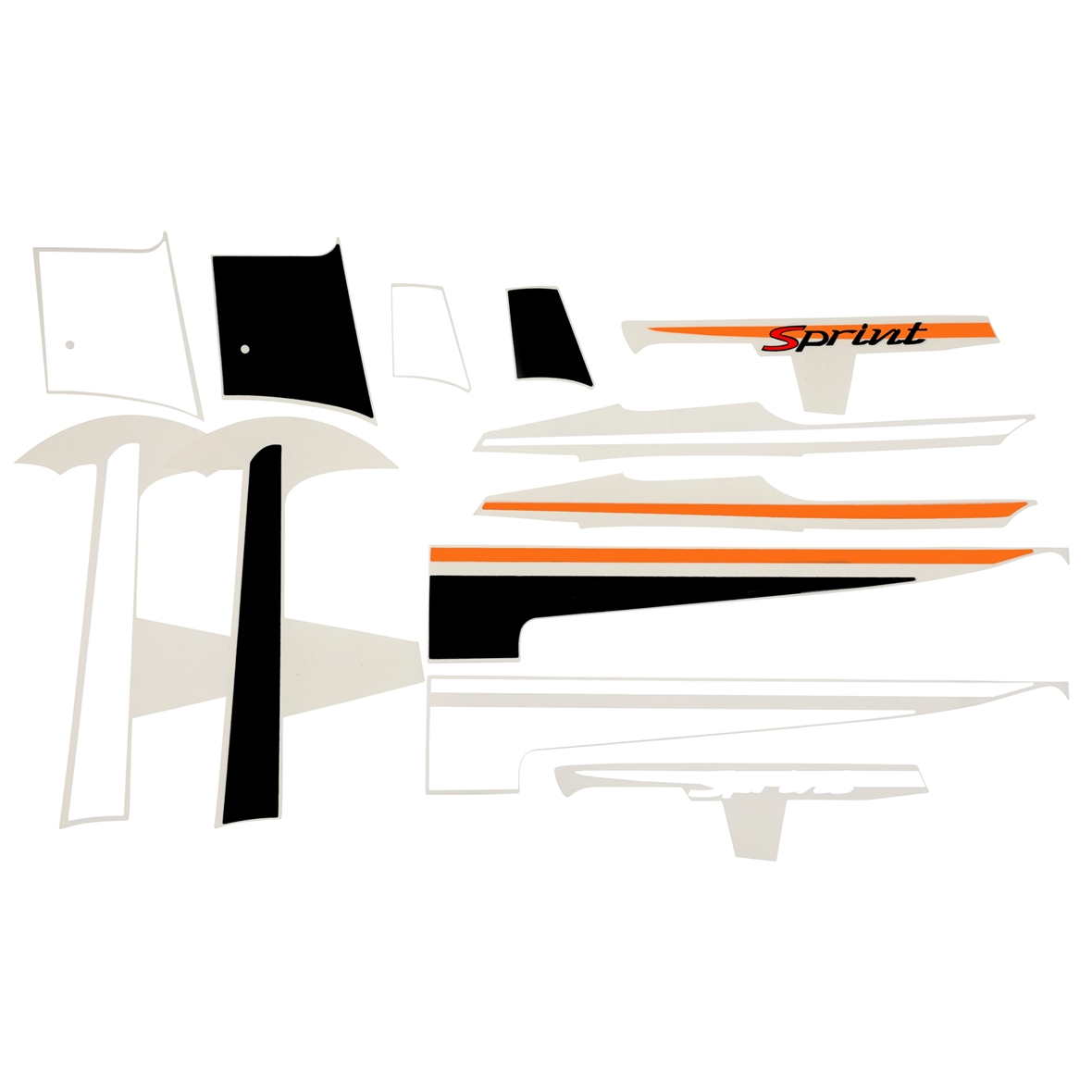 "Product Image for 'Sticker Decoration Set PIAGGIO ""Sport""Title'"