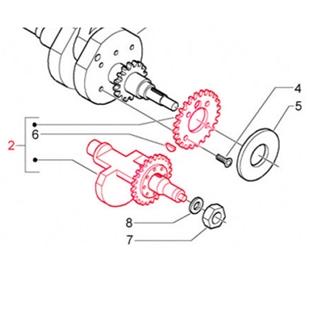 Product image for 'Balance Shaft crankshaft PIAGGIOTitle'