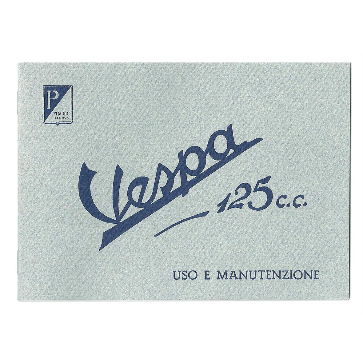 Product Image for 'Instruction Manual PIAGGIO Vespa 125 1948Title'