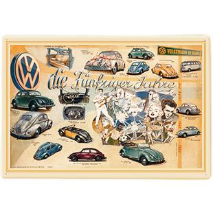 Product image for 'Metal Post Card VW Collection VW Beetle - The 50sTitle'