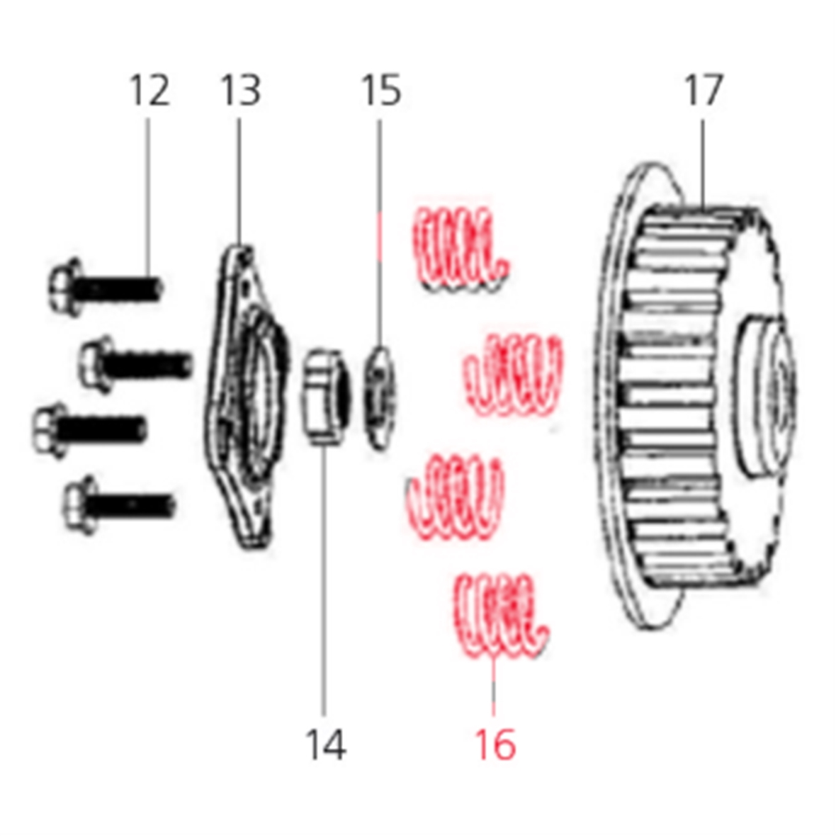 Product Image for 'Clutch Spring LMLTitle'