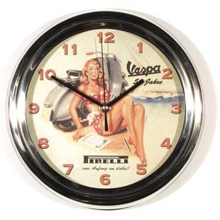 "Product Image for 'Wall clock ""Vespa 50 Jahre""Ø=25cmTitle'"