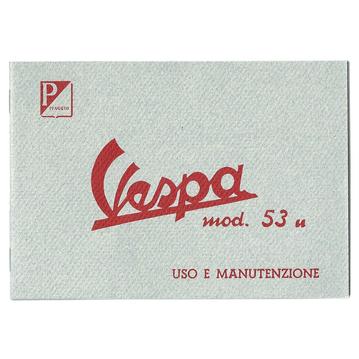 Product Image for 'Instruction Manual PIAGGIO Vespa 125 1953Title'