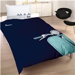 Product image for 'Bed Linen Vespa Silhouette size 135x200cm / 80x80cmTitle'