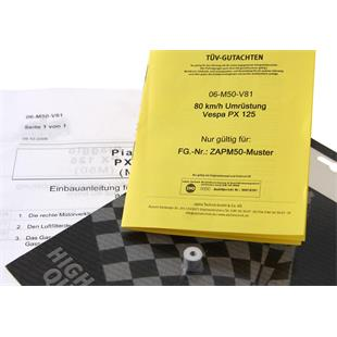 Product Image for 'Speed Restrictor Kit to 80 km/​h, Chassis number: ZAPM50......, from YOM 2006Title'