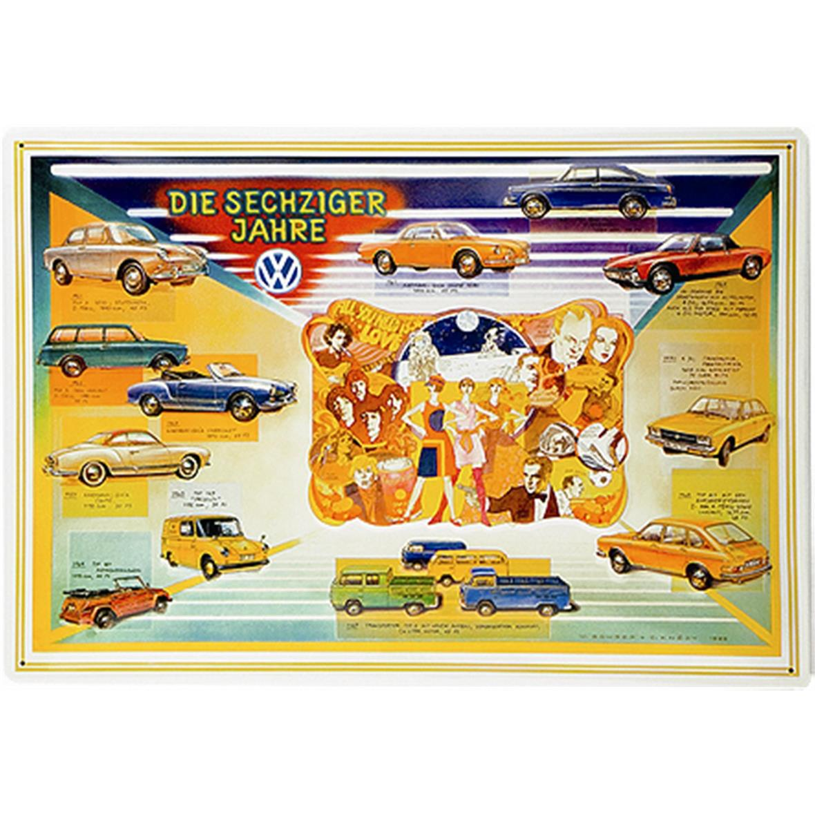 Product Image for 'Metal Sign VW Collection VW - The 60sTitle'