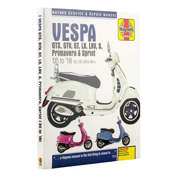 research.unir.net Haynes Manual 4898 Vespa GTS/GTV/LX/LXV/S,ie 05 ...