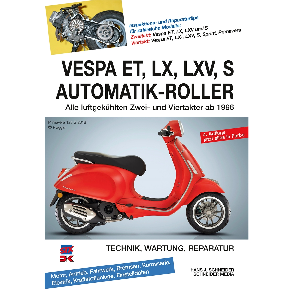 """Product Image for 'Hand Book """"VESPA ET, LX, LXV, S Automatic Scooter"""" technics, service, repair, all air cooled 2-stroke and 4-stroke since 1996Title'"""
