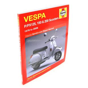 Product image for 'Hand Book HAYNES Vespa P/PX125, 150 & 200 (incl. LML Star 2T) '78-'14 service & repair manualTitle'