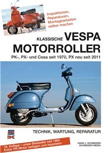 "Product Image for 'Hand Book Klassische VESPA Motorroller - alle PK, PX, Cosa seit 1970"" technics, service, repairsTitle'"