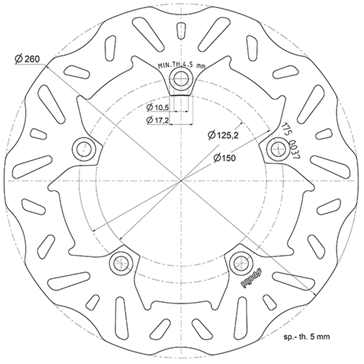 Product Image for 'Brake Disc POLINITitle'