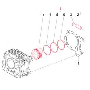 Product image for 'Piston PIAGGIOTitle'