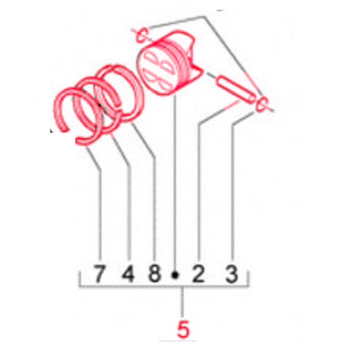 Product image for 'Piston PIAGGIO KAT. 2Title'
