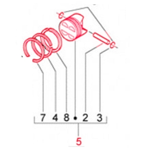 Product image for 'Piston PIAGGIO KAT. 3, 3.o/sTitle'